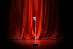 empty stage, shy comedian